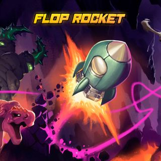 Boxart for the Butterscotch Shenanigans game Flop Rocket