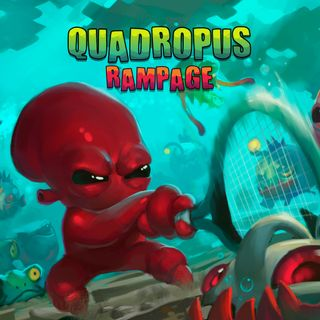 Boxart for the Butterscotch Shenanigans game Quadropus Rampage