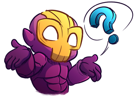 Flux (the protagonist of Crashlands) shrugging, with a question mark speech bubble indicating confusion.