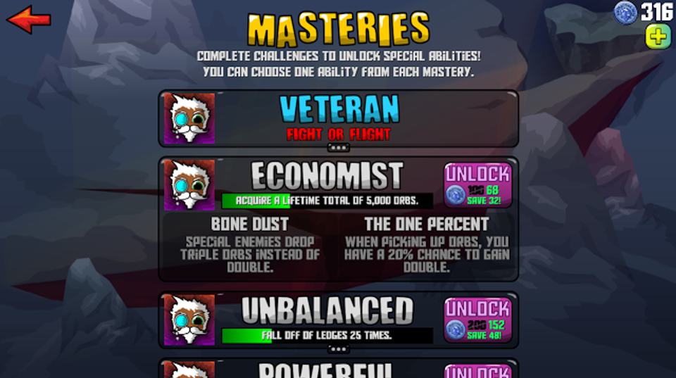 masteries updated